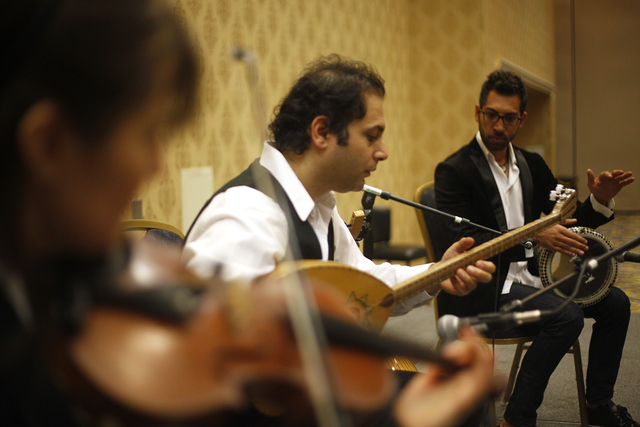 The Arab Music Ensemble of Las Vegas performs at the American Federation of Musicians Convention at the Westgate Pavilion on Tuesday, June 21, 2016, in Las Vegas. (Rachel Aston/Las Vegas Review-Jo ...