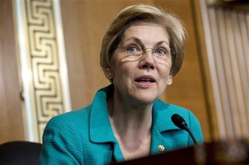 Sen. Elizabeth Warren, D-Mass. speaks on Capitol Hill in Washington. (Jacquelyn Martin/Associated Press)