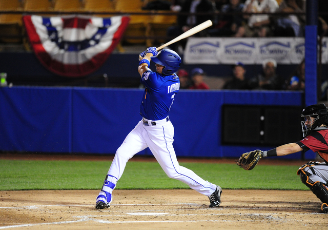 Las Vegas 51s outfielder Brandon Nimmo (Josh Holmberg/Las Vegas Review-Journal)