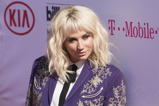 Kesha poses on the red carpet during the Billboard Music Awards at T-Mobile Arena in Las Vegas May 22. (Jason Ogulnik/Las Vegas Review-Journal)