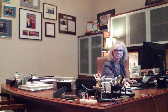 Executive Vice President Jan Jones Blackhurst with Government Relations and Corporate Social Responsibility of Caesars Entertainment Corporation smiles while at work. (Gina Rose DiGiovanna/Special ...
