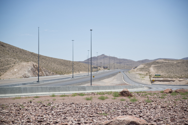 Interstate 15 is seen completely vacant in southeast  Las Vegas on Wednesday, June 22, 2016. Interstate 15 was briefly shut down in both directions from St. Rose Parkway to Sloan after an incident ...