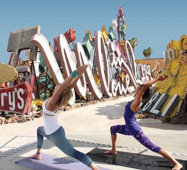 Yoga at the Neon Museum (Courtesy Vox Solid Communications)