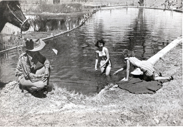 Boulderado swimming hole late 40s (UNLV Library Special Collections)