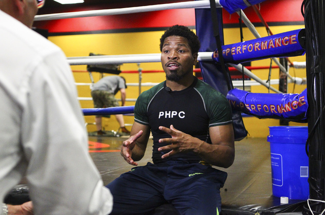 Shawn Porter speaks during an interview at Porter Hy-Performance Center, 2206 Paradise Road, in Las Vegas on Wednesday, June 8, 2016. Porter is slated to fight Keith Thurman on June 25. (Loren Tow ...