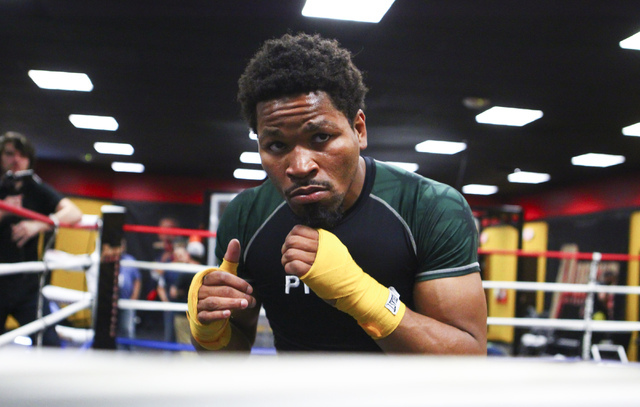 Shawn Porter works out at Porter Hy-Performance Center, 2206 Paradise Road, in Las Vegas on Wednesday, June 8, 2016. Porter is slated to fight Keith Thurman on June 25. (Loren Townsley/Las Vegas R ...