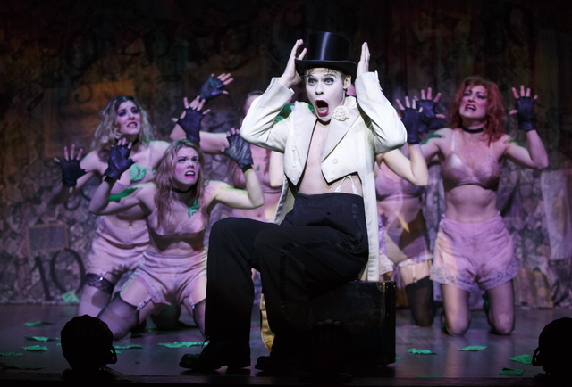"""The Kit Kat Club's Emcee (Randy Harrison) bids """"Cabaret"""" audiences """"Wilkommen"""" in the national tour of the musical's Tony-winning revival, at The Smith Center through Sunday. (Smith Center for the ..."""