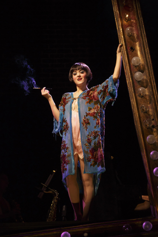 """Kit Kat Klub chanteuse Sally Bowles (Andrea Goss) surveys the divine decadence of 1930s Berlin in the Tony-winning """"Cabaret"""" revival, which continues through Sunday at The Smith Center. (Smith Cen ..."""