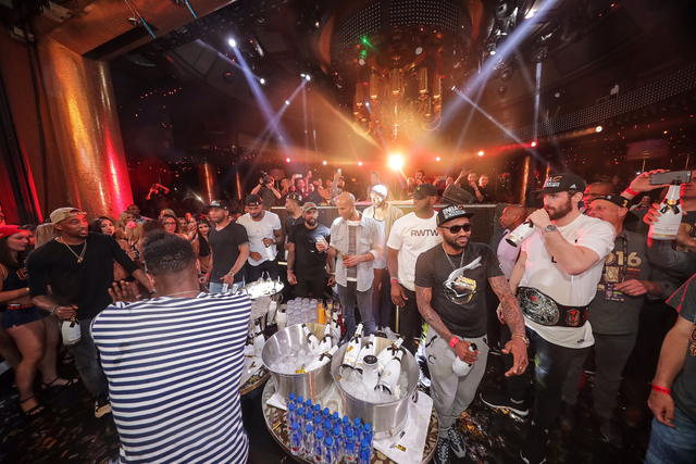 Players from the NBA championship Cleveland Cavaliers celebrated their triumph at XS nightclub at the Wynn. (Courtesy Tony Tran Photography)
