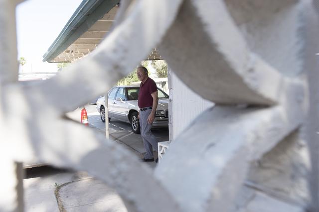 Jack LeVine speaks with a reporter as he shows concrete screen blocks in Las Vegas Wednesday, June 1, 2016. Jason Ogulnik/Las Vegas Review-Journal