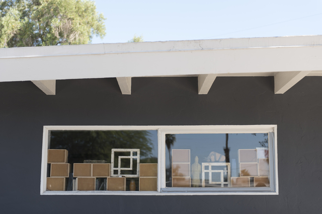 Jack LeVine's collection of concrete screen blocks are seen at LeVine's house in Las Vegas Wednesday, June 1, 2016. Jason Ogulnik/Las Vegas Review-Journal