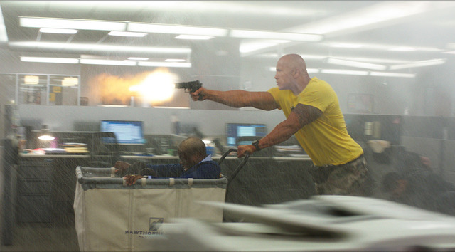 """Photo Credit: Courtesy of Warner Bros. Pictures Caption: (L-r) KEVIN HART as Calvin and DWAYNE JOHNSON as Bob in New Line Cinema's and Universal Pictures' action comedy """"CENTRAL INTELLIGENCE,"""" a W ..."""