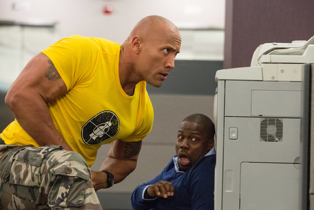 """Photo Credit: Claire Folger Caption: (L-r) DWAYNE JOHNSON as Bob and KEVIN HART as Calvin in New Line Cinema's and Universal Pictures' action comedy """"CENTRAL INTELLIGENCE,"""" a Warner Bros. Pictures ..."""