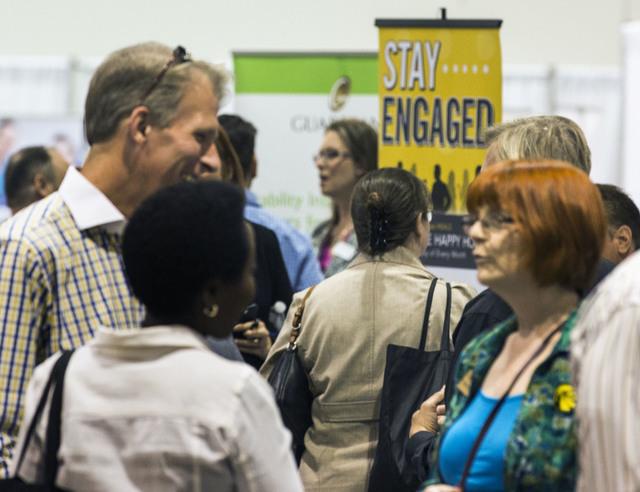 People mingle during the Business Expo sponsored by Las Vegas Metro Chamber at Cashman Field on Wednesday, June 15, 2016.  Jeff Scheid/Las Vegas Review-Journal Follow @jlscheid