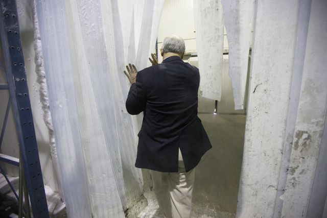 Dave Coon, vice president for Anderson Dairy, leaves the freezer at the Anderson Dairy headquarters on Tuesday, June 28, 2016, in Las Vegas. (Erik Verduzco/Las Vegas Review-Journal) Follow @Erik_V ...