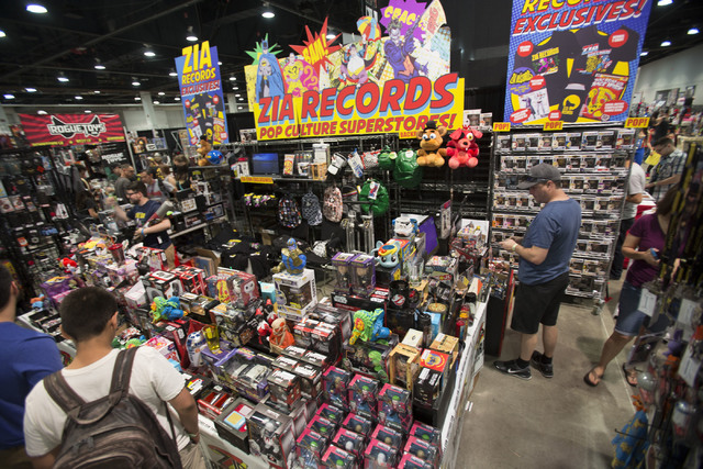 The Zia Records booth is seen during the Amazing Las Vegas Comic Con at the Las Vegas Convention Center on Saturday, June 18, 2016. (Richard Brian/Las Vegas Review-Journal)