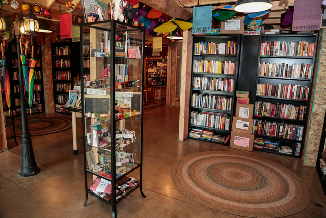 Books and other items are shown Saturday, Jan. 1, 2015, at The Writer's Block, a book store at 1020 Fremont St . in Las Vegas, Saturday, Jan. 1, 2015. (Donavon Lockett/Las Vegas Review-Journal)