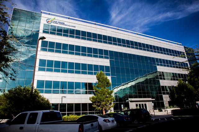 The Las Vegas Global Economic Alliance building is seen on Thursday, June 9, 2016, in Las Vegas. (Miranda Alam/Las Vegas Review-Journal)