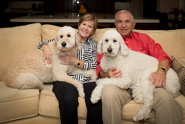 Joe and Sharon Orzechowski with their dogs. (TONYA HARVEY/REAL ESTATE MILLIONS)
