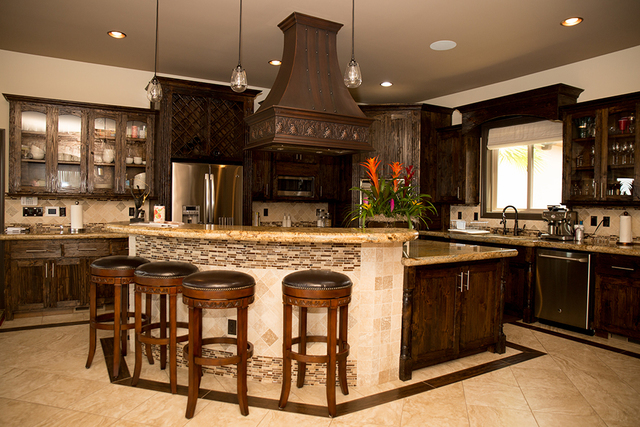 The kitchen in the 5,000-sqaure-foot home. (TONYA HARVEY/REAL ESTATE MILLIONS)