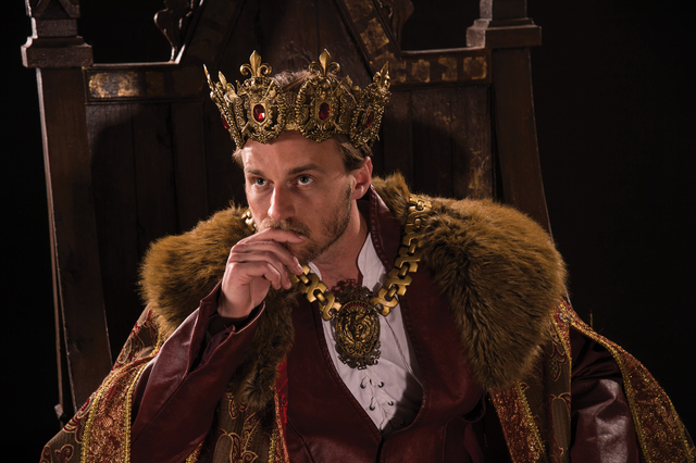 """In """"Henry V,"""" the formerly rambunctious Prince Hal (Sam Ashdown) assumes the throne — and his kingly responsibilities — as the Utah Shakespeare Festival continues its history cycle. (Karl Hugh ..."""