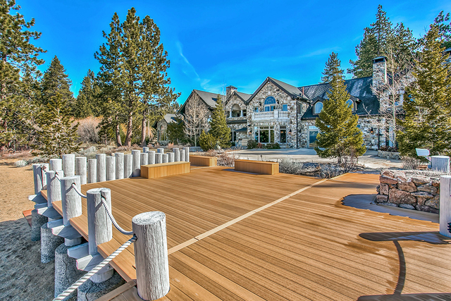 COURTESY Along Lake Tahoe's shoreline is an equestrian property know as Sierra Sunset. Owners telecom executive George Schmitt and wife Clare, have listed it for $59 million.