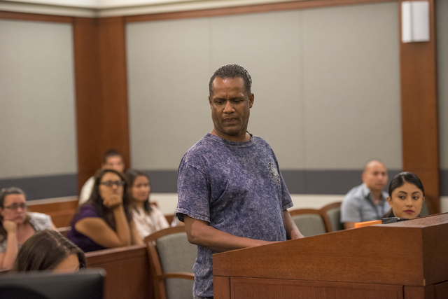 Paris Hughes speaks during a mental health court session at the Regional Justice Center in Las Vegas on Wednesday, June 15, 2016. Joshua Dahl/Las Vegas Review-Journal