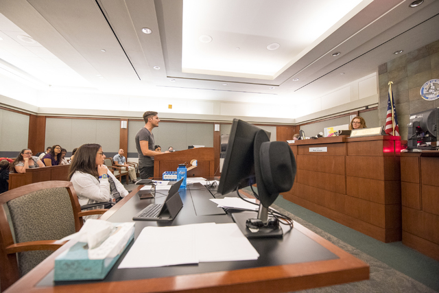 Joe McIver speaks during a mental health court session at the Regional Justice Center in Las Vegas on Wednesday, June 15, 2016. Joshua Dahl/Las Vegas Review-Journal