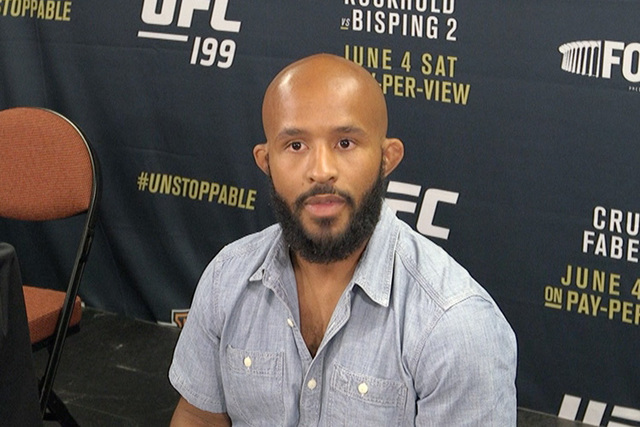UFC flyweight champion Demetrious Johnson. (Heidi Fang/Las Vegas Review-Journal)
