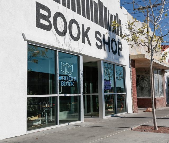 The Writer's Block, a book store at 1020 Fremont St . in Las Vegas, is shown Saturday, Jan. 1, 2015. (Donavon Lockett/Las Vegas Review-Journal)