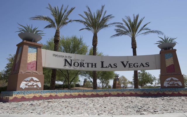 The Welcome to the City of North Las Vegas Sign is seen on Thursday, June 23, 2016. (Richard Brian/Las Vegas Review-Journal)