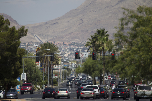 Cars drive East on Lake Mead Boulevard near on Saturday, June 25, 2016, in North Las Vegas. Erik Verduzco/Las Vegas Review-Journal Follow @Erik_Verduzco