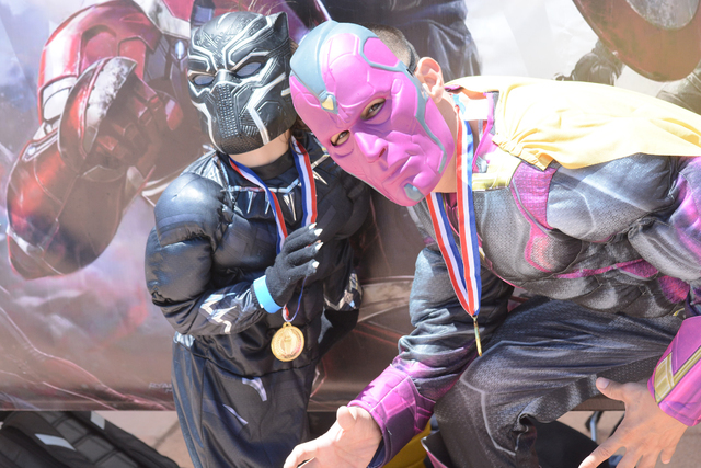 Parents and kids dressed as villians and superheroes during the Jr Hero Run May 21, 2016, at Cornerstone Park, 1600 Wigwam Parkway. Courtesy of moorephotosbybarry, Barry Moore, Photographer