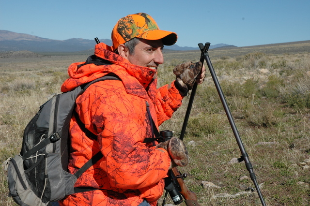 Sharing a hunt with good friends can fill the gap in those years when you don't draw tag. Paul Mona of Henderson looks for deer on a cold morning in central Nevada. (Doug Nielsen/Special to Las Ve ...