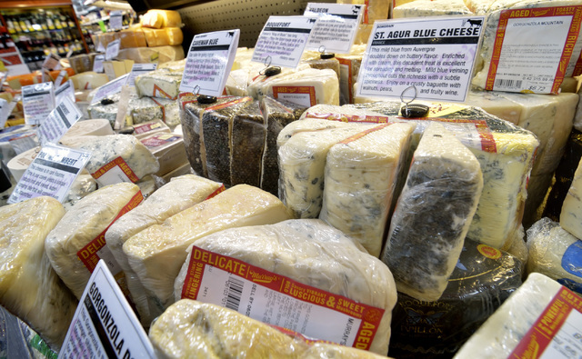 Part of the cheese display is shown at the Murray's Cheese counter in Smith's at 7130 N. Durango Drive in Las Vegas on Friday, June 17, 2016. Bill Hughes/Las Vegas Review-Journal
