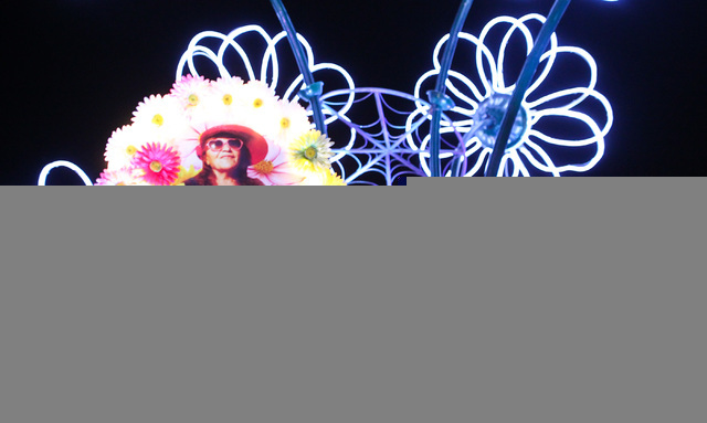Costumed performers parade through the festival grounds at Electric Daisy Carnival at the Las Vegas Motor Speedway in Las Vegas during the early hours of Sunday, June 21, 2015. (Chase Stevens/Las  ...