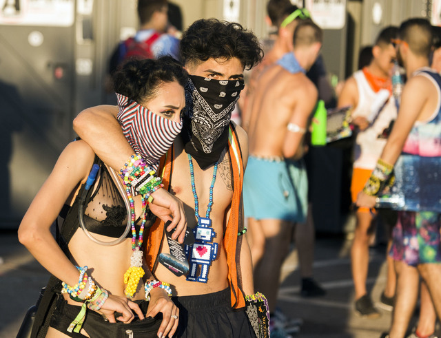 People exit  Las Vegas Motor Speedway at the end of the three day Electric Daisy Carnival on Monday, June 20, 2016. Jeff Scheid/Las Vegas Review-Journal Follow @jlscheid