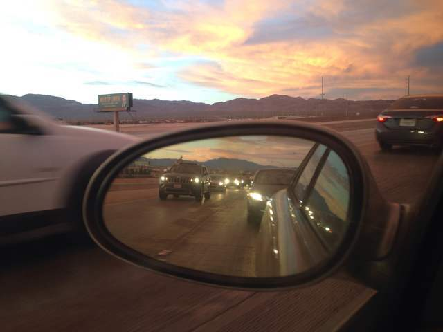 Traffic slowly moves north on interstate 15 en route to Electric Daisy Carnival at the Las Vegas Motor Speedway in Las Vegas, on Saturday, June 18, 2016. (Bridget Bennet/Las Vegas Review-Journal)  ...