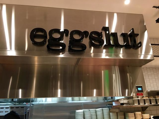 A sign for Eggslut's new location inside the Cosmopolitan in Las Vegas on Wednesday, June 8, 2016. (Caitlin Lilly/Las Vegas Review-Journal)