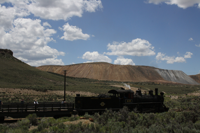 The Queen of Steam, Locomotive 40, brings passengers for a classic train ride up near the Ruth Mine outside of Ely, Nev. Deborah Wall/Special to View