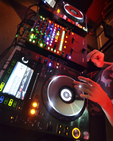 One of the decks used for the Learn to DJ program is shown at the Enterprise Library at 25 E. Shelbourne Ave. Bill Hughes/Las Vegas Review-Journal