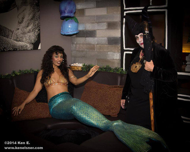 Mermaid Farasha and Cathy Pagano hang out during last year's Bad Faerie Ball at Artifice, 1025 S. First St., on Feb. 28, 2015. Robert M Lopez/Special to View