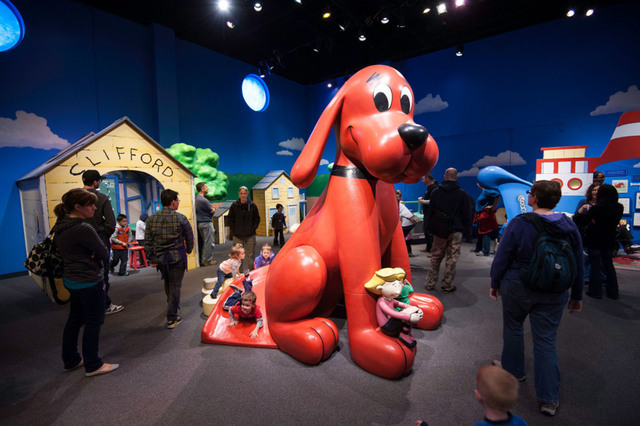 """The exhibit """"Adventures with Clifford The Big Red Dog"""" is set to run through Sept. 11 at the Discovery Children's Museum, 360 Promenade Place. Special to View"""
