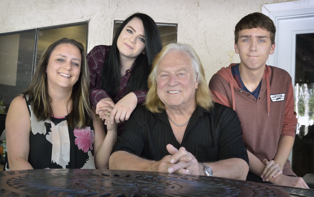 East valley resident Glenn Smith, third from left, is shown at his east valley home in Las Vegas with his wife Emily, left, daughter Ashley and son Micah June 5, 2016. Bill Hughes/View