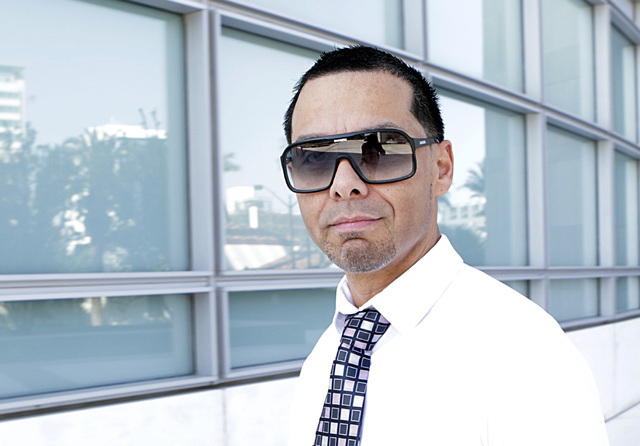 Ernesto Ramos who pleaded guilty to extorting a prominent businessman walks to the Lloyd George U.S. Courthouse for his sentencing on Thursday, June 30, 2016. Bizuayehu Tesfaye/Las Vegas Review-Jo ...