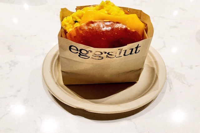"Eggslut's ""Fairfax"" sandwich is shown at its new location inside the Cosmopolitan in Las Vegas on Wednesday, June 8, 2016. (Caitlin Lilly/Las Vegas Review-Journal)"