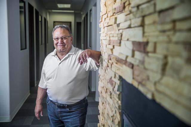 USFantasy Sports President Vic Salerno, shown at his Las Vegas office Tuesday, June 21, 2016. (Benjamin Hager/Las Vegas Review-Journal)