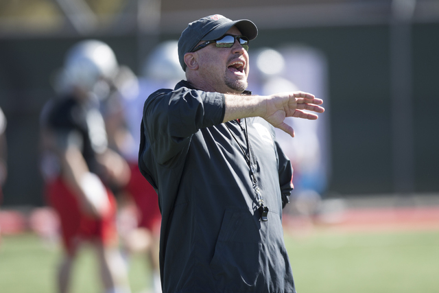 UNLV football coach Tony Sanchez. Erik Verduzco/Las Vegas Review-Journal Follow @Erik_Verduzco