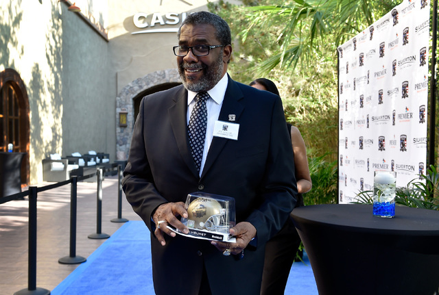 Retired NFL player Joe Greene arrives at the Gridiron Greats Hall of Fame Induction dinner at the Silverton hotel-casino Friday, June 3, 2016, in Las Vegas. (David Becker/Las Vegas Review-Journal) ...