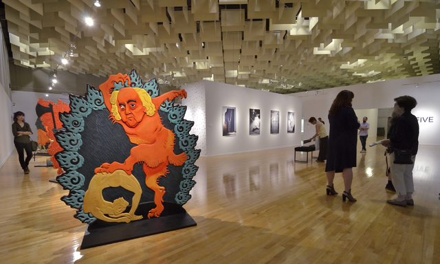 """Five"" -- featuring works by five former UNLV artists-in-residence -- takes over much of UNLV's Barrick Museum through Sept. 10. Bill Hughes/Las Vegas Review-Journal"
